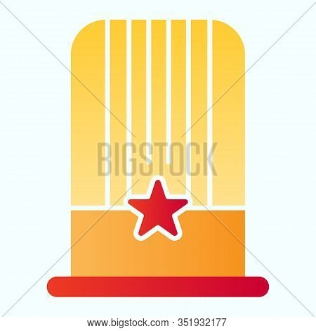 Uncle Sam Hat Flat Icon. American Hat Vector Illustration Isolated On White. Patriotic Hat Gradient