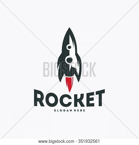 Cool Rocket Logo Designs Vector, Rocket Sign, Icon, Template
