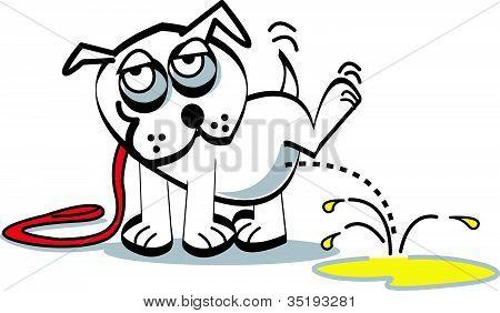 Dog Peeing Clip Art