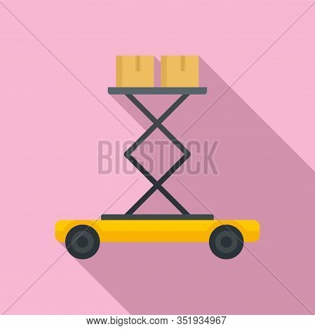 Lift Platform Icon. Flat Illustration Of Lift Platform Vector Icon For Web Design