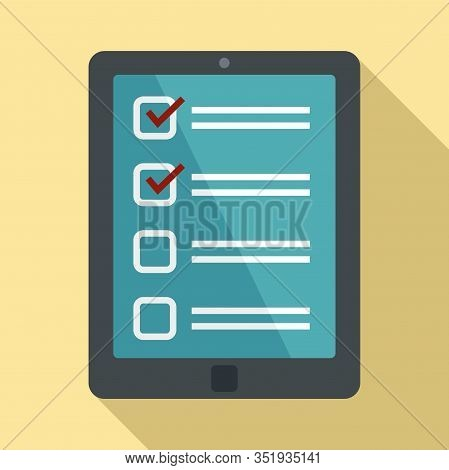 Inventory Tablet Icon. Flat Illustration Of Inventory Tablet Vector Icon For Web Design