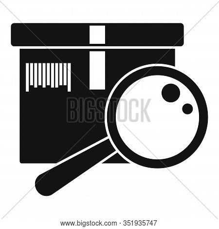 Inventory Magnifier Icon. Simple Illustration Of Inventory Magnifier Vector Icon For Web Design Isol