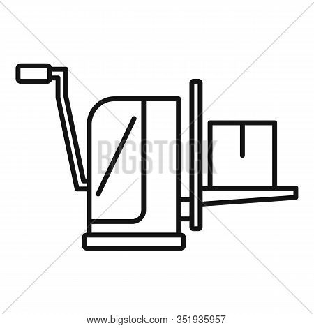 Parcel Lift Equipment Icon. Outline Parcel Lift Equipment Vector Icon For Web Design Isolated On Whi