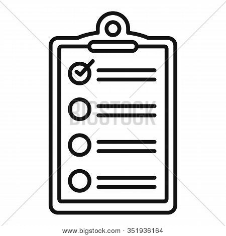 Inventory Checkboard Icon. Outline Inventory Checkboard Vector Icon For Web Design Isolated On White