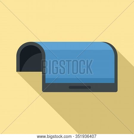 Flexible Display Device Icon. Flat Illustration Of Flexible Display Device Vector Icon For Web Desig