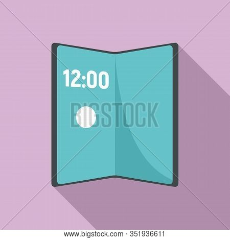 Artificial Foldable Display Icon. Flat Illustration Of Artificial Foldable Display Vector Icon For W