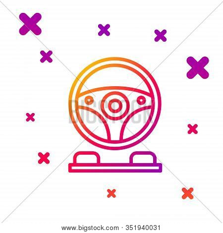 Color Line Racing Simulator Cockpit Icon Isolated On White Background. Gaming Accessory. Gadget For