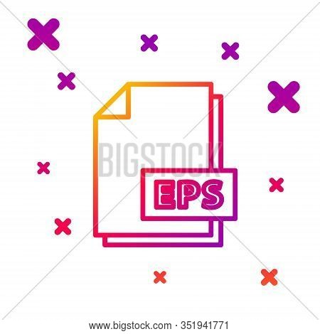 Color Line Eps File Document. Download Eps Button Icon Isolated On White Background. Eps File Symbol