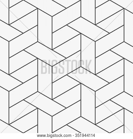 Abstract Geometric Pattern. A Seamless Vector Backgrounds Repeating Basketry Linear. Pattern Is Clea