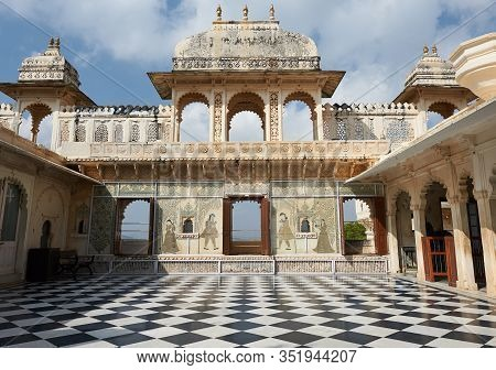 City Palace, Udaipur Is A Palace Complex Situated In The City Of Udaipur In The Indian State Of Raja