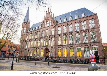 Utrecht, Netherlands - January 06, 2020. Old Building Of Hku Conservatory