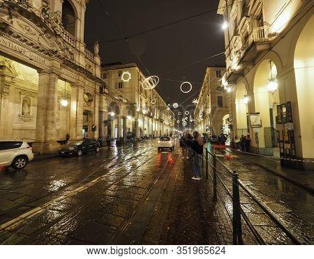 Via Po Street In Turin