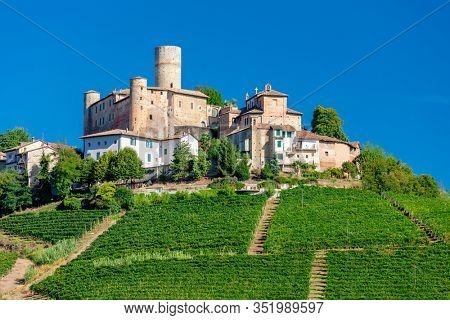 Castle and village Castiglione Falletto, Piemonte, Italy