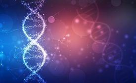 Dna Structure, Abstract Medical And Health Care Background, Abstract Technology Science Concept Dna