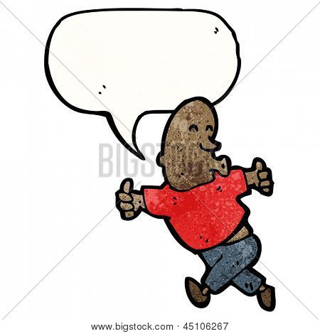enthusiastic man cartoon