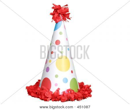 Isolated Red Birthday Hat