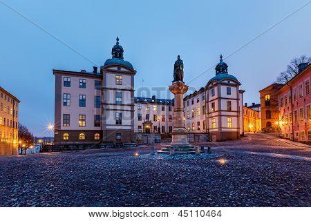 Birger Jarls Square In Riddarholmen In The Morning, Stockholm, Sweden