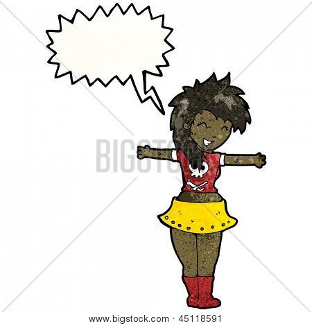 cartoon singing rock girl