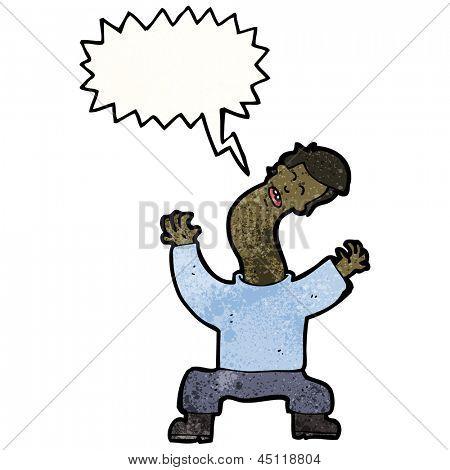 cartoon man with cricked neck