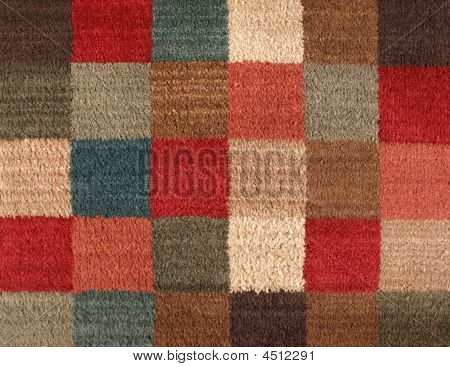 Carpet Texture Multiple Color Squares