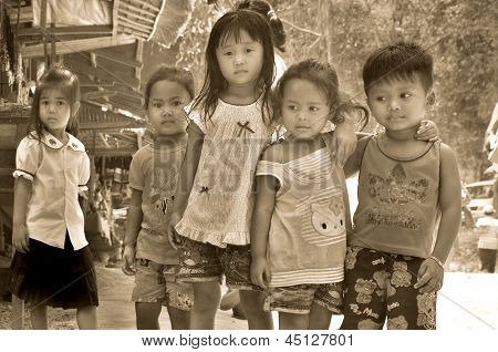 Unidentified street children