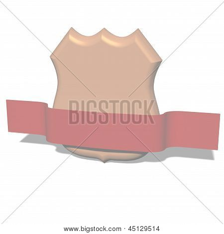 Classical sheild isolated on the white