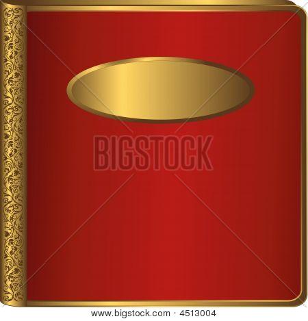 Big Red Vintage Photo Album Cover