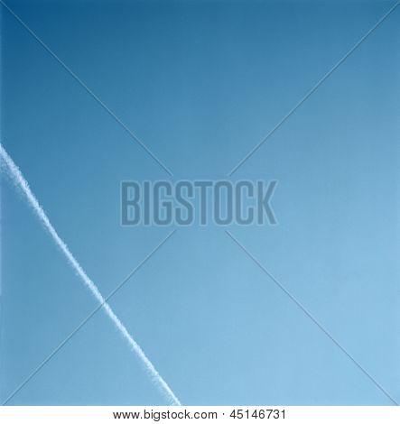 Con Trail In The Blue Sky