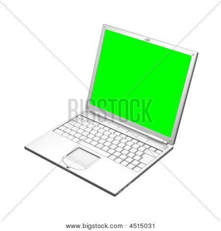 打开的笔记本计算机的插图