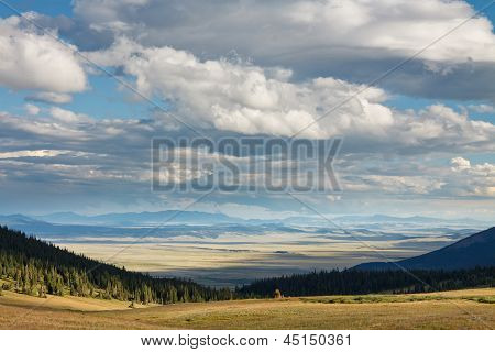 Colorado Landscape With Dramatic Sky