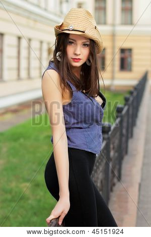 Young Attractive Caucasian Lady