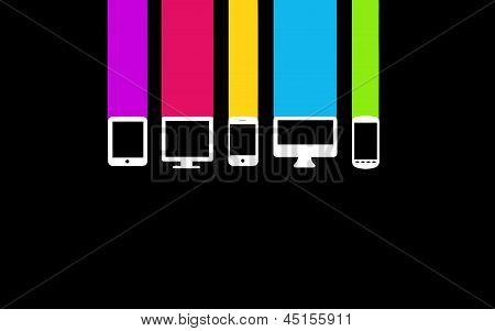 Color Computer Device Set