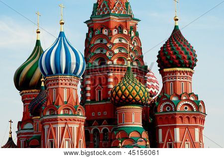 Moscow. Red Square. Saint Basil Cathedral cupola poster