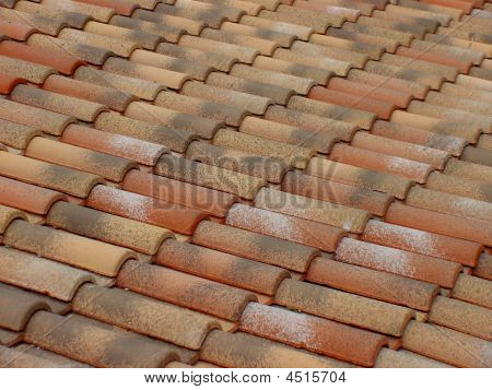 Terracotta Roof Tiles Pattern