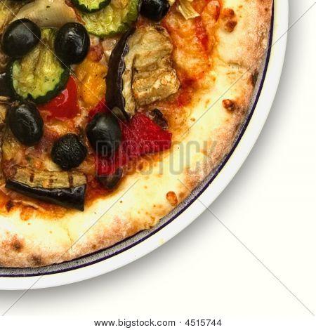 Pizza Pie On White