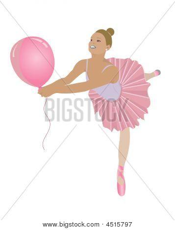 Ballerina With Balloon