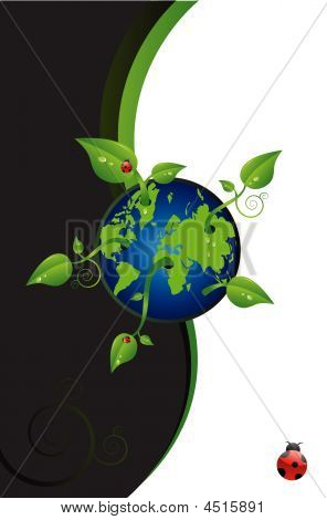Green World With Leaves