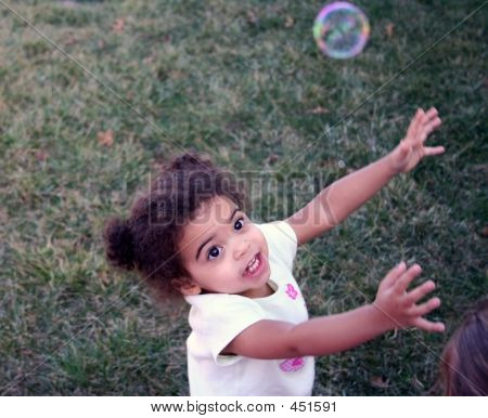 Toddler Girl Bubbles