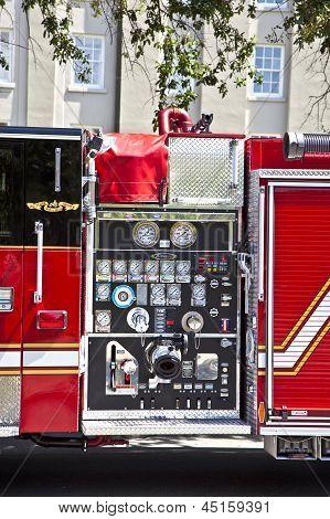 modern Charleston fire truck in detail