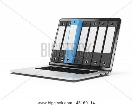 Laptop and files