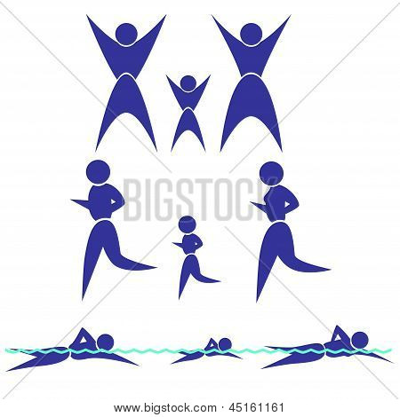Silhouette of the family