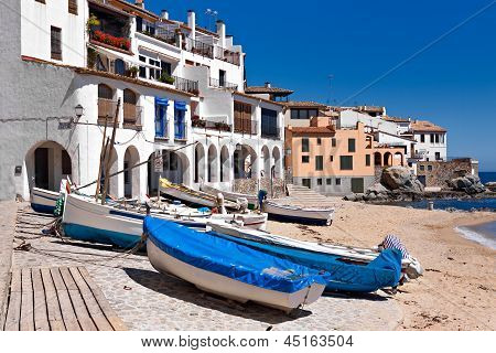 The Village Of Calella De Palafrugell (costa Brava, Catalonia, Spain)