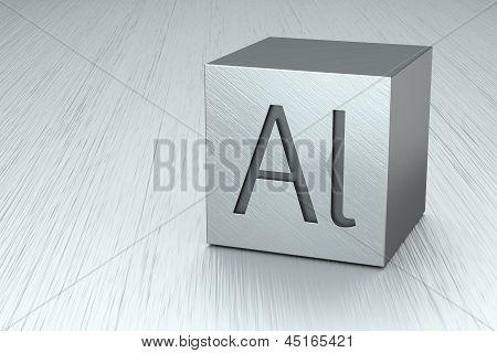 Aluminium Cube With Al Mark