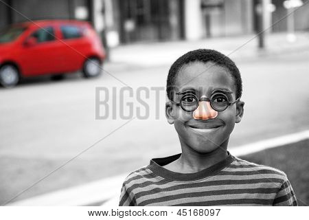 On The Street Boy Clown