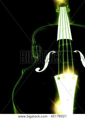 Glowing Violin