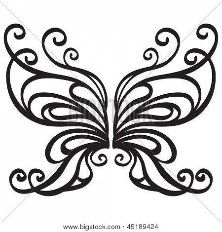 Ornamental vector butterfly