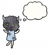 cute cloud head creature cartoon poster