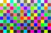 Multi colored calibration chart all colors background pattern poster