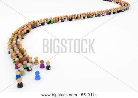 Cartoon Crowd, Queue Curve