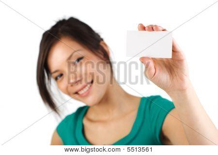 Blank Business Card Woman